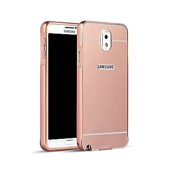 Funda Samsung Galaxy Note 3, Lincivius® [Espejo Lattice] Fundas Galaxy Note 3 Carcasa Case Aluminio Espejo Hibrida 2 Partes Dura Anti Golpes Estuche ...
