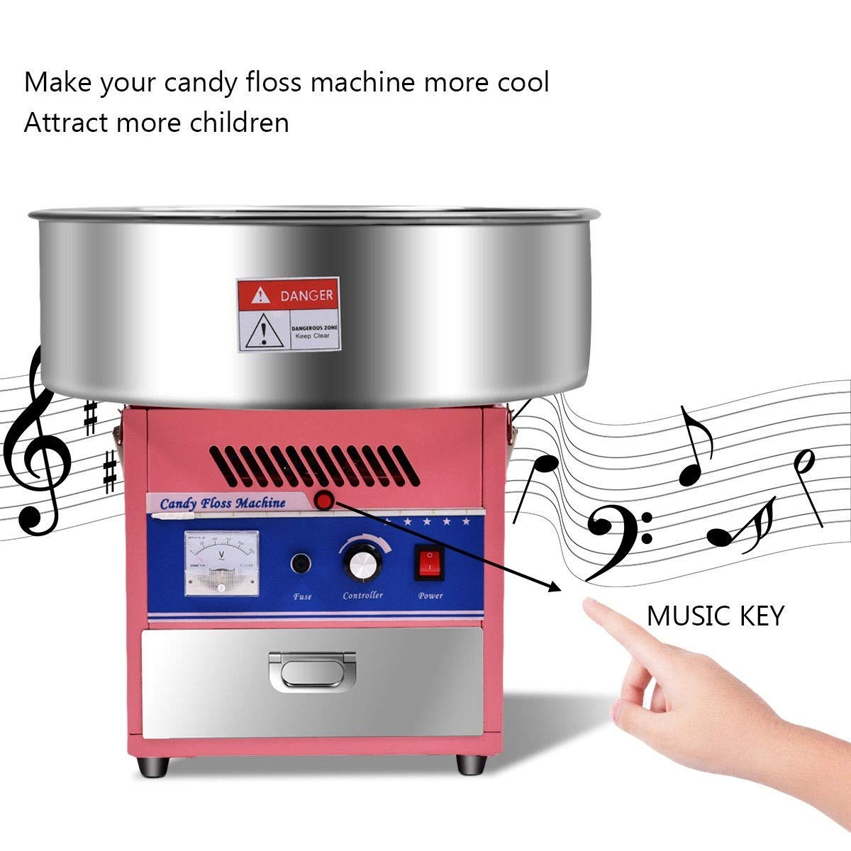 Cotton Candy Machine, Pink Electric Cotton Candy Machine by MD Group (Image #8)