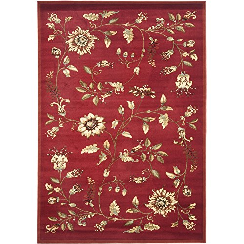 (Safavieh Lyndhurst Collection LNH552-4091 Traditional Floral Red and Multi Area Rug (5'3