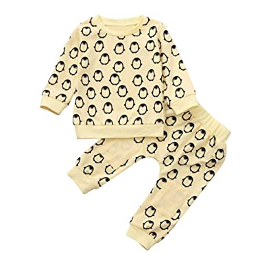 90892cc7b1c5 Amazon.com  Infant Newborn Toddler Boys Girls Fall Winter Clothes ...