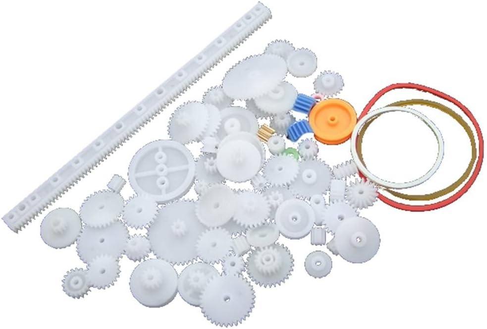 Morza Engranaje de Rodadura de plástico Preparar Varias Clases de Engranaje Paquete de Coches de Juguete Accesorios del Motor del Engranaje de Gusano de Bricolaje de Eje de la Correa bujes