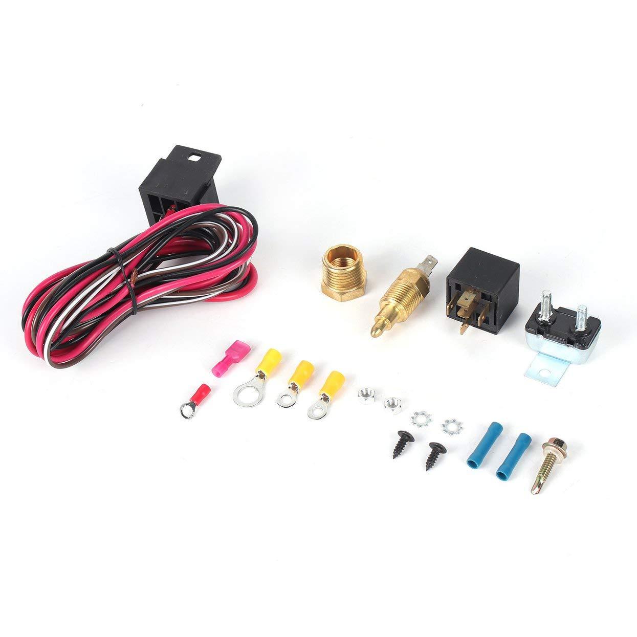 sbc thermostat wiring lamijua electric fan wiring install kit complete thermostat 50 amp  lamijua electric fan wiring install kit