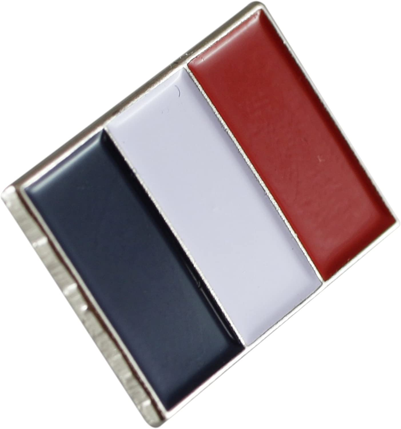 France Flag Pin- Official Colors and Dimensions France Triocolor Enamel Lapel Pin (Value Pack) (1 pin)