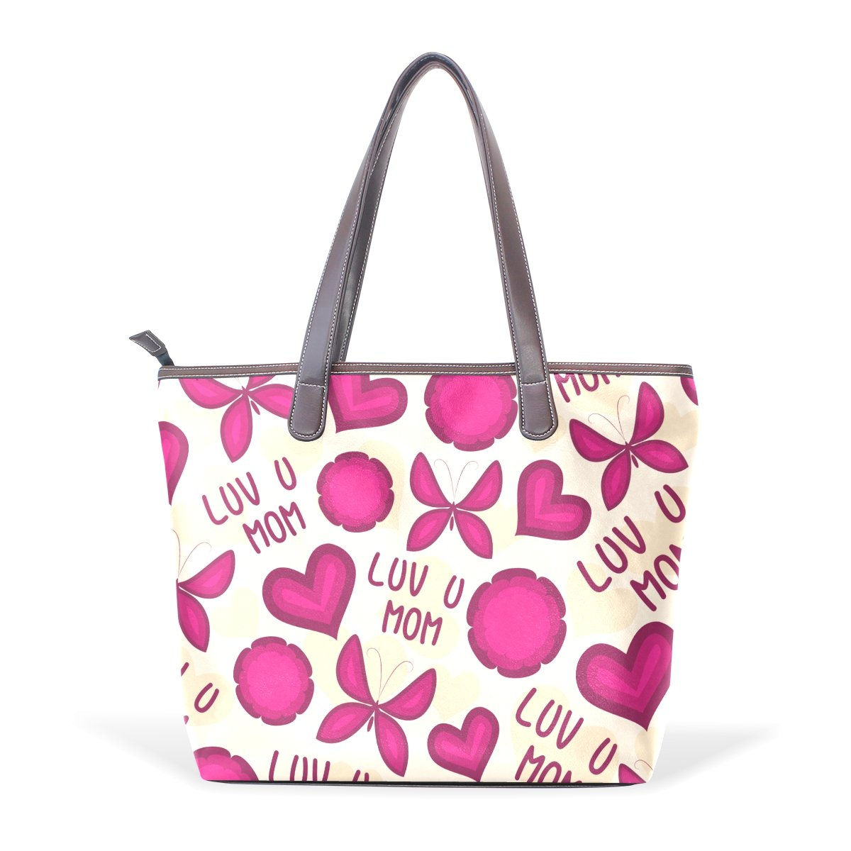 Happy Mothers Day Womens Fashion Large Shoulder Bag Handbag Tote Purse for Lady