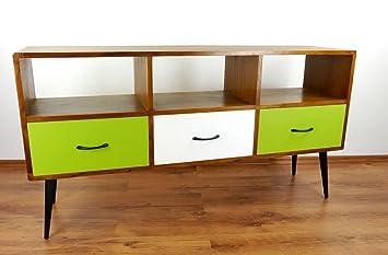 Asiatische Möbel java retro sideboard aus teakholz vintage tv bank aus massivholz