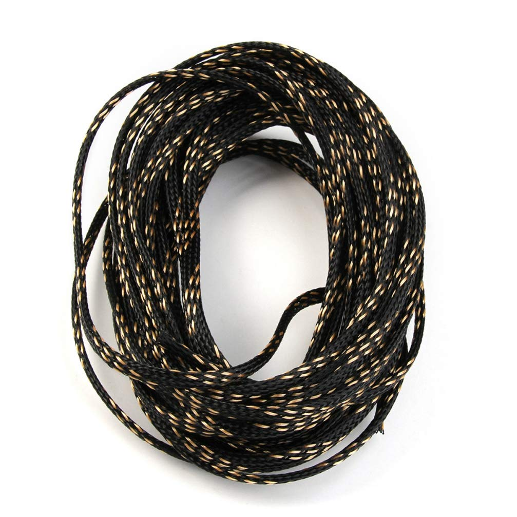 10m 4mm 5 Colors PET Nylon Cable Sleeve Snakeskin Mesh Wire Protecting Cable Sleeves Wire Mesh Shock For Cable Sets