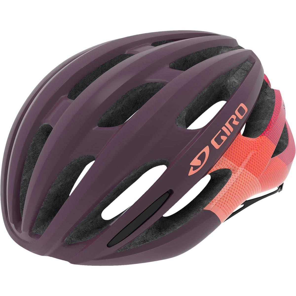 Giro Saga Cycling Helmet - Women's Matte Dusty Purple Bars Small