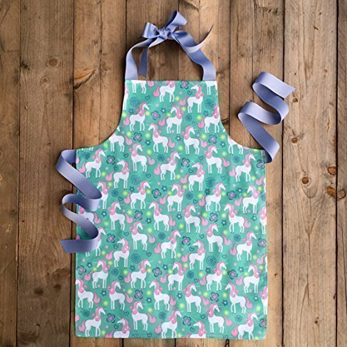 Handmade Unicorn Apron for Tween Girl from Sara Sews