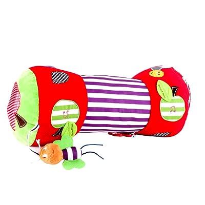 1 Unid Bebé Rastreo Almohada Bebé Recién Nacido Juguetes de Fitness Suave Relleno Multifunción Rastreo de Rodillos Almohada con BB Anillo de Rastreo Alfombra de Juego: Juguetes y juegos