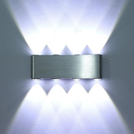 Lightess Lampada da Parete Moderna in Alluminio con 8 LED, Applique ...
