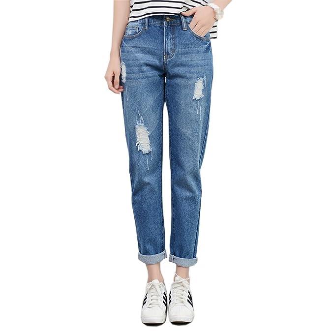 Amazon.com: RieKet pantalón de jean ceñido con ...