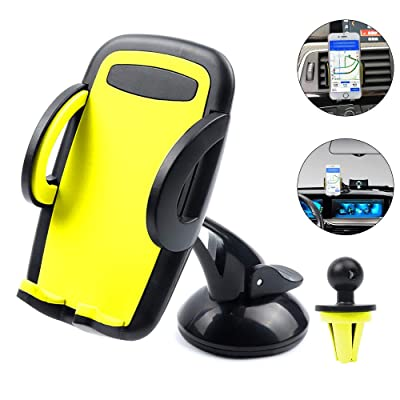Vech Car Phone Mount Phone Holder for Car for iPhone 11/11 Pro/8 Plus/8/X/XS/7 Plus Samsung S20/S10/S9/S8 Universal Mobile Cell Phone Mount Car Air Vent Holder Dashboard Windshield Mount