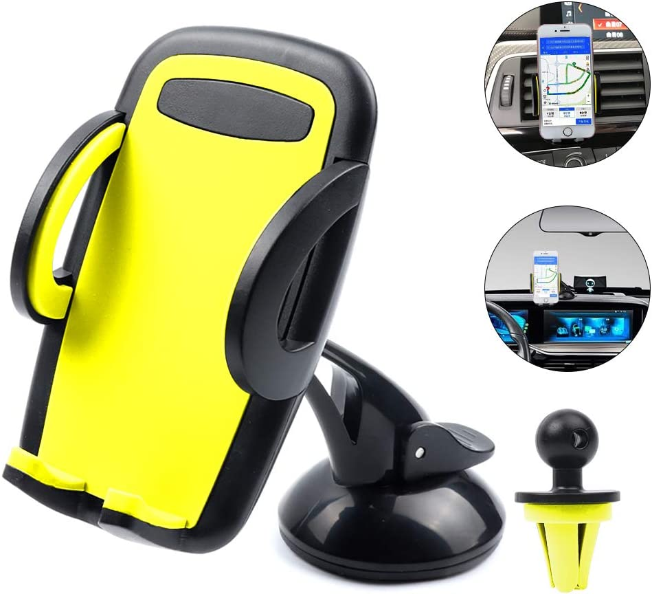 Vech Car Phone Mount Phone Holder for Car for iPhone 11//11 Pro//8 Plus//8//X//XS//7 Plus Samsung S20//S10//S9//S8 Universal Mobile Cell Phone Mount Car Air Vent Holder Dashboard Windshield Mount