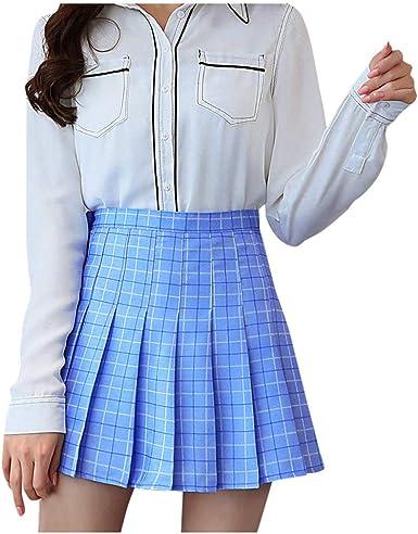 TUDUZ Mini Falda Plisada De Cintura Alta para Mujer Falda De Tenis ...