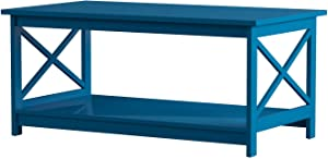 Convenience Concepts Oxford Coffee Table, Blue
