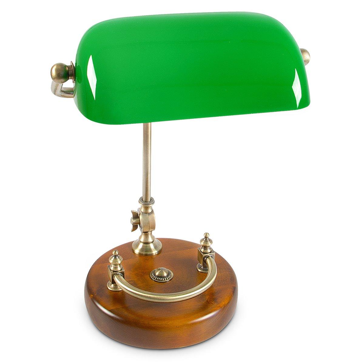 Lampe de bureau banquier laiton verre vert 9 relaxdays lampe de banquier bureau table abat - Lampe de bureau banquier ...