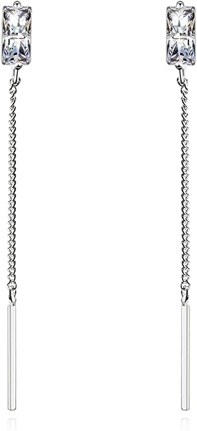 Large Silver Blank Cuff Bracelet With Chain Dangles