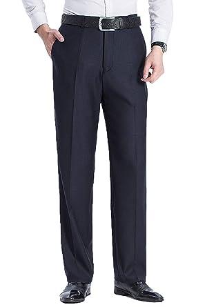 Leinen Herren Anzughose Business Hose Regular Fit Size 29 44