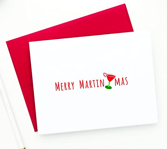 Amazon funny holiday cards merry martinimas christmas funny holiday cards merry martinimas christmas greeting card set of 12 m4hsunfo