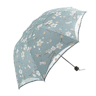 Amazon.com: Honeystore plegable Frilly – Lluvia sombrilla ...