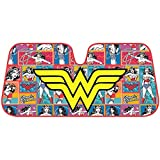 Wonder Women Auto Sun Shade Universal Size Fit 58' x 27' - Windshield Car Truck SUV Sunshade - Interior Accessories - (Retro Cartoon)