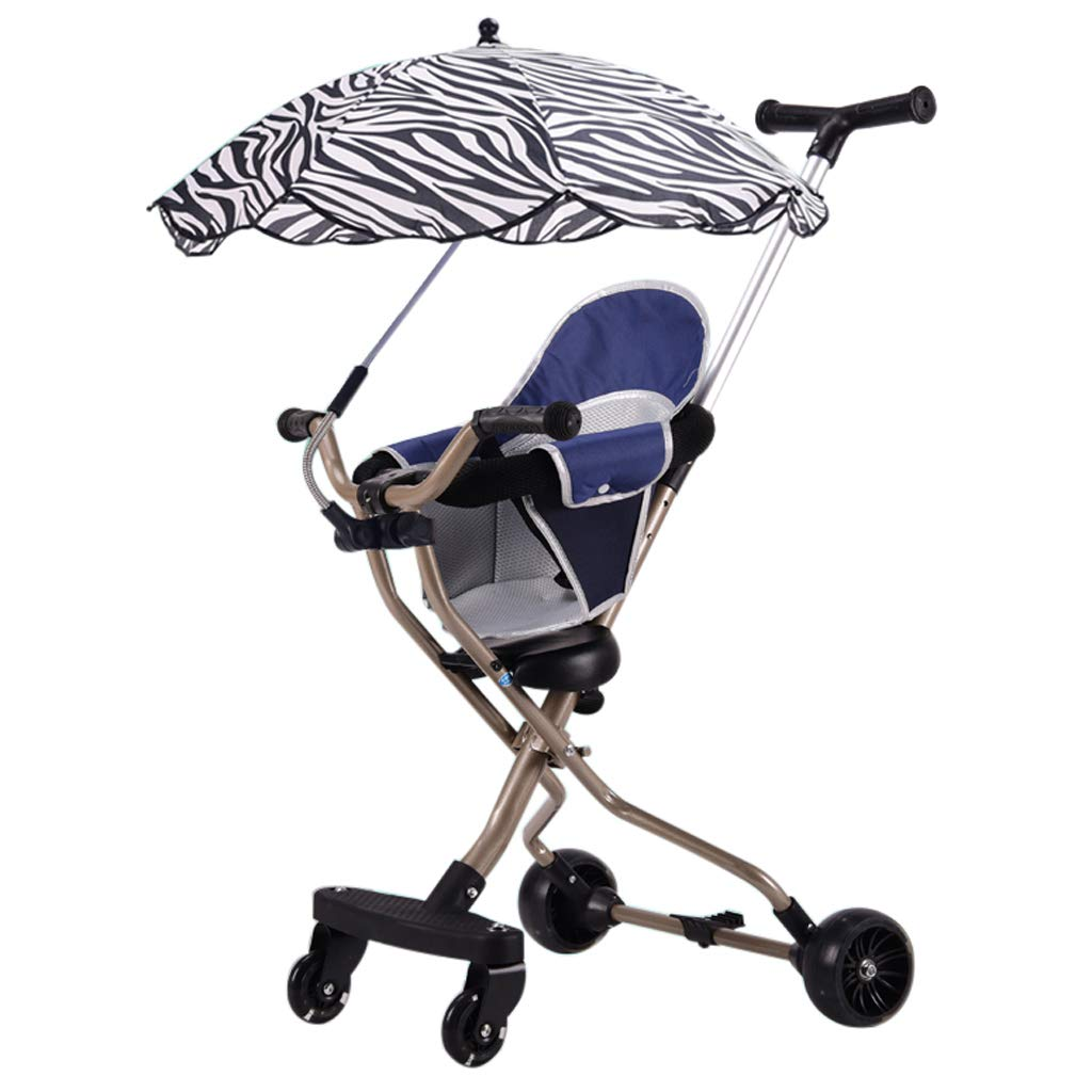 Lightweight Foldable Baby Pushchair - Portable Pram Travel System Carriage Compact Fold Technology with Brake for 1.5-7 Years Unisex Child (93 cm/ 37 inches)