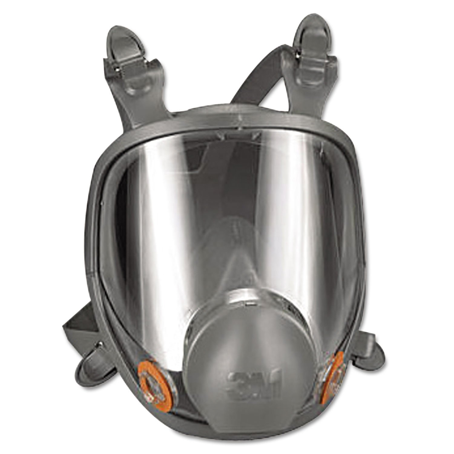 3M Safety 142-6800 Safety Reusable Full Face Mask Respirator, Grey, Medium