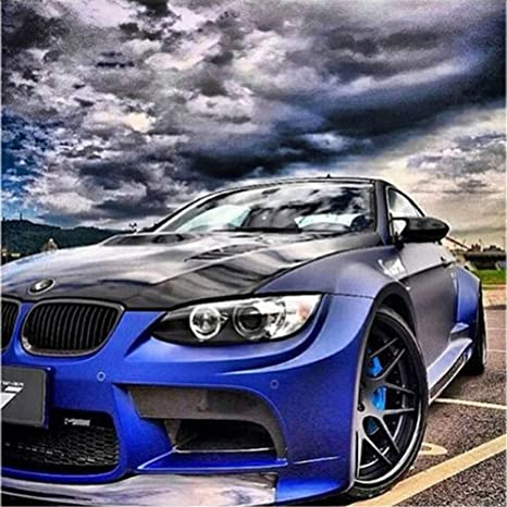 5d Diy Diamond Painting Complete Cross Stitch Kit Bmw Sports Car Diamond Painting Full Drill Embroidery Cross Stitch Diamond Painting Crystal Rhinestone For Home Wall And Entrance Decorations 40 X 40 Cm