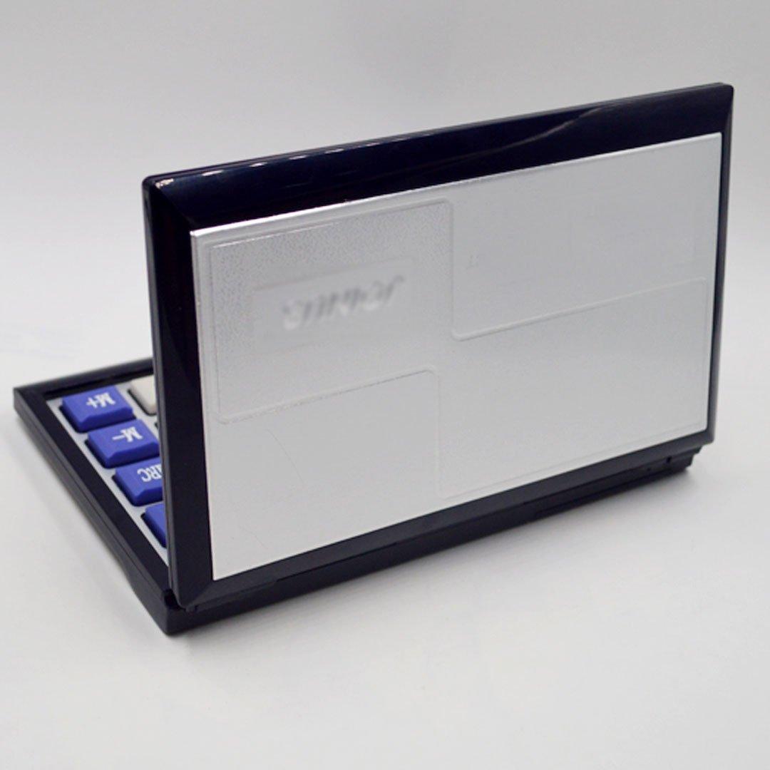 CLARA 16-Digit Basic Folding Compact Calculator Large LCD Flip Over Calculator Solar and AAA Battery Dual Power Calculator Black by CLARA (Image #4)