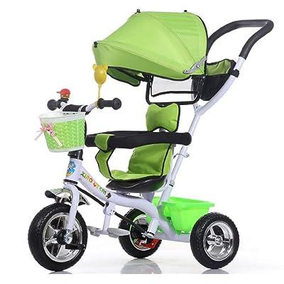 Chariot bébé Enfants tricycle poussette / 1-3-5 ans bébé poussette bébé poussette, vert BICYCLETTE