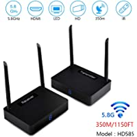 measy HD585 Wireless HDMI Wireless Extender/Adapter 350m/1150feet (HDMI Transmitter/Receiver) Video and Digital Audio from laptops, PCs,Monitor to HDTV or projectors