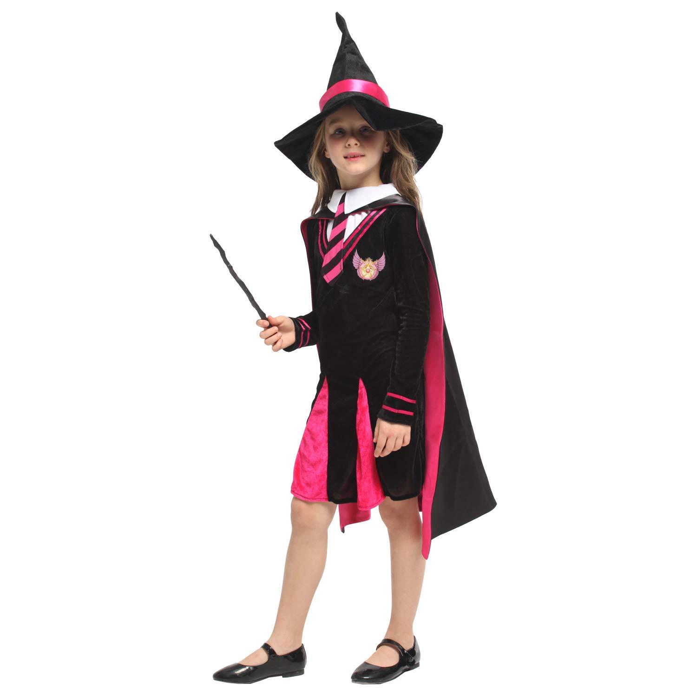 LXUA Chica del Traje de Halloween Capa de Bruja for niños ...