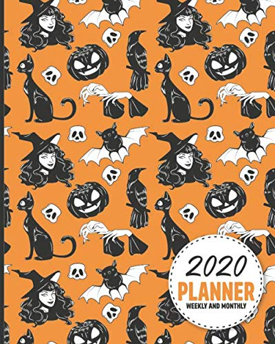 2020 Planner Weekly And Monthly: Calendar Schedule and Organizer. Inspirational Quotes, Halloween Pattern Cover | January 2020 through December
