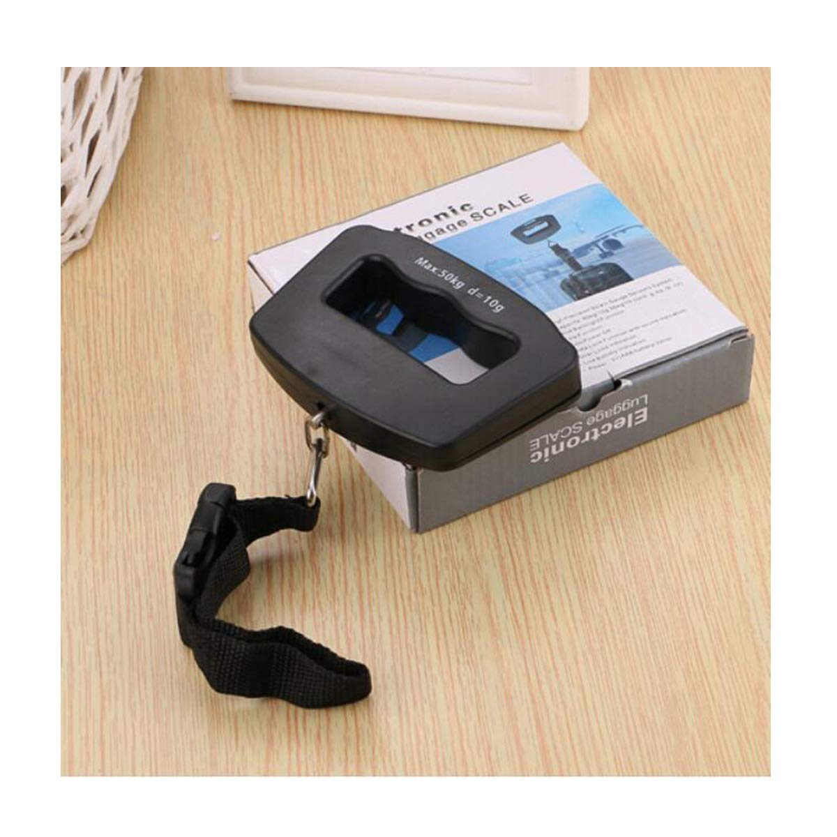 Kaiyitong Electronic Scales, Portable Portable Electronic Scales, Portable Fishing Hand Luggage Scales (Color : Black)