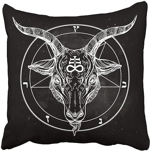 Leisure-Time Fundas de Almohada Imprimir Pentagrama con Demonio ...