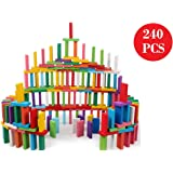 Blossom Pack of 2 (120 PCs Each Pack) Colorful Wooden Domino Set for Kids Colourful Wooden Dominos Toy Colourful Wooden Blocks…