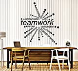 Large Vinyl Wall Decal Teamwork Words Office Decor Business Stickers (ig4342) Dark Red