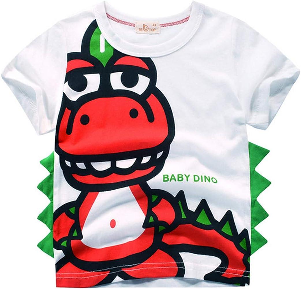 Camiseta Niño Dinosaurio Manga Corta Camiseta De Algodón De Verano ...