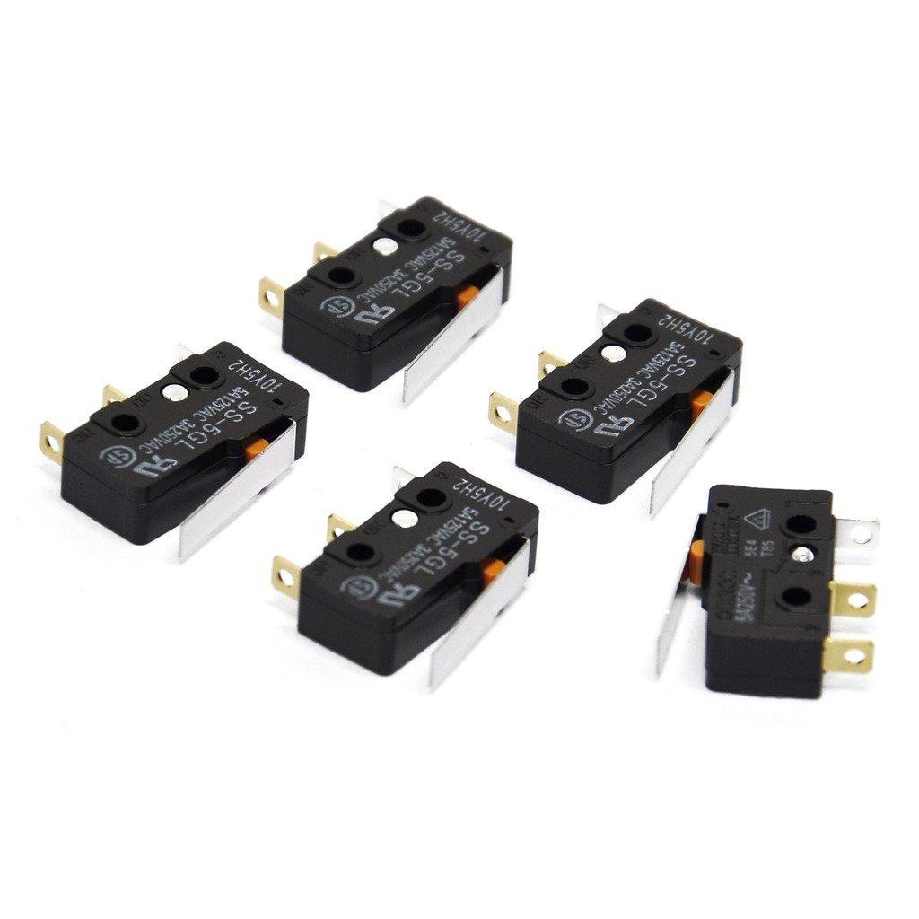 ARCELI Interruptor de límite SS-5GL 5A Micro Interruptor de acción ...