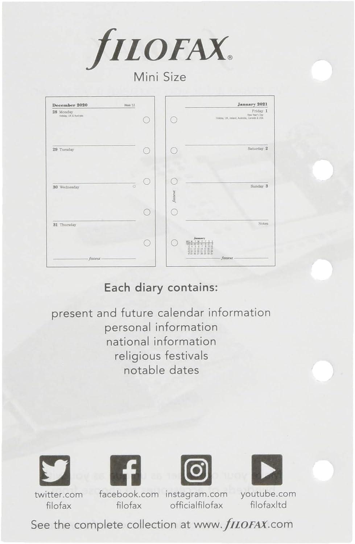 Filofax Diario Settimanale Su Due Pagine Personale Crema di Cotone 2021