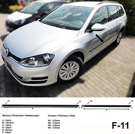 Spangenberg Seitenschutzleisten Schwarz Passend Für Volkswagen Vw Golf Vii Variant Kombi Ab Baujahr 04 2013 F11 3700011 Auto