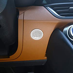 CHEYA Aluminum Alloy Steering Wheel Down Horn Speaker Cover Trim 1pc for Alfa Romeo Giulia 2017