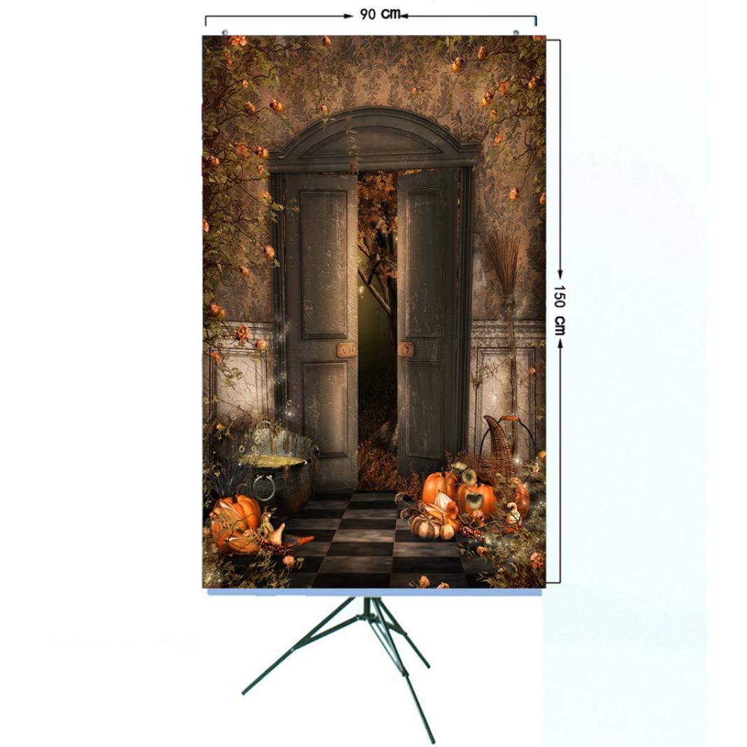 TAOtTAO - Farol de Vinilo de Calabaza para Halloween, Fondo de fotografía, P, 150 * 90cm: Amazon.es: Hogar