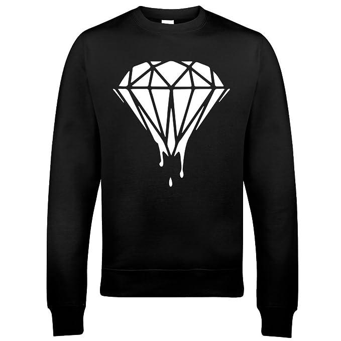 Art Hustle - Bleeding Dope Diamond Hombre Mujer Unisex Camiseta (XL, Negro)