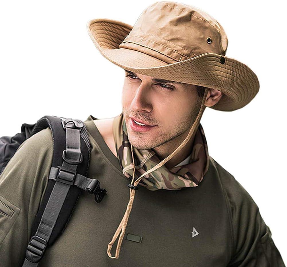 Dsaren Sombrero de Ancho Brim Hombres Sombrero de Pescador Camuflaje del Ejército para Exteriores Pesca Camping Ciclismo Caza Golf Senderismo