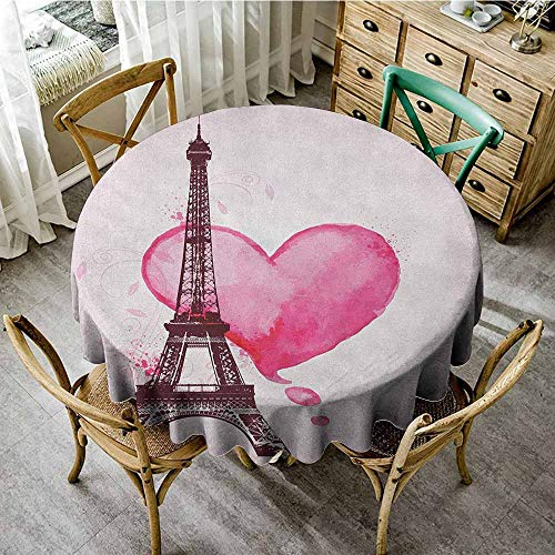 - 100% Polyester Washable Table Cloth for Circular Table 50