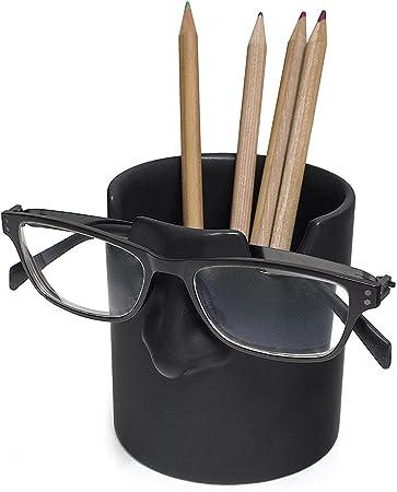 Balvi portalápices & Soporte Gafas Mr Tidy Color Negro Mantén Tus Gafas ordenadas en tu casa y Oficina Cerámica: Amazon.es: Hogar
