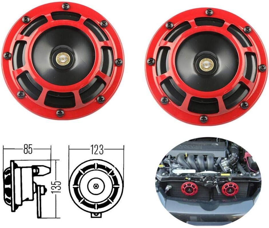 Neo Chrome MOSTPLUS Eletric Car Horn Kit 12V Super Loud High Tone and Low Tone 335HZ//400HZ