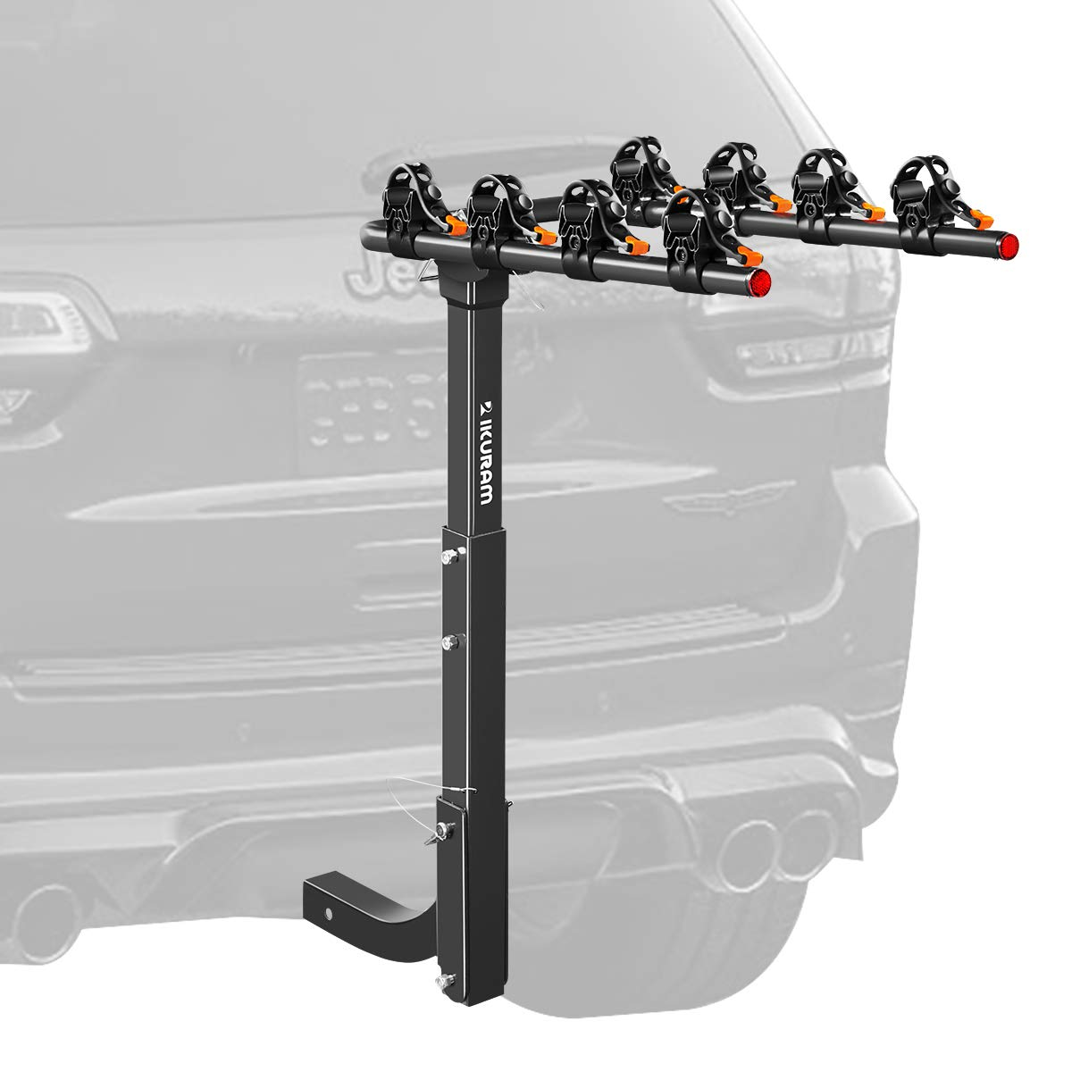 """IKURAM 2/3/4 Bike Rack Bicycle Carrier Racks Hitch Mount Double Foldable Rack for Cars, Trucks, SUV's and minivans with a 2"""" Hitch Receiver Best time to Buy"""