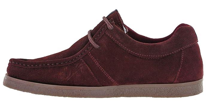 Lambretta Wallabee Classic Leather Shoes Mens Flat Retro Cushioned Soft UK 7-12